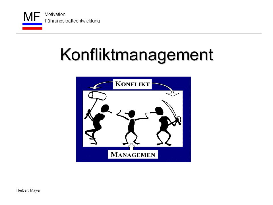 Konfliktmanagement Herbert Mayer