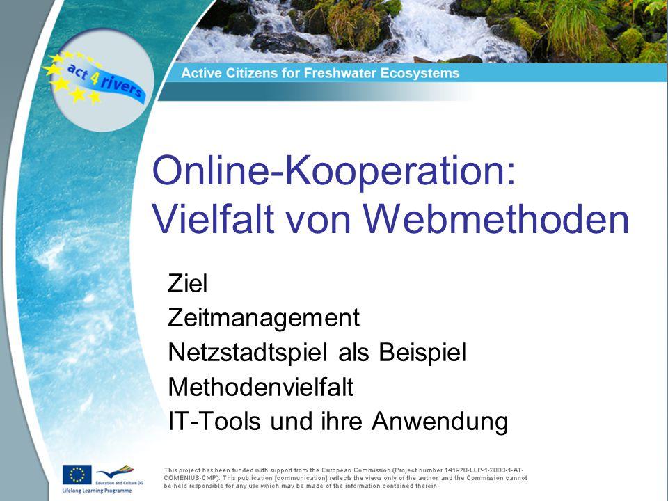 Online-Kooperation: Vielfalt von Webmethoden