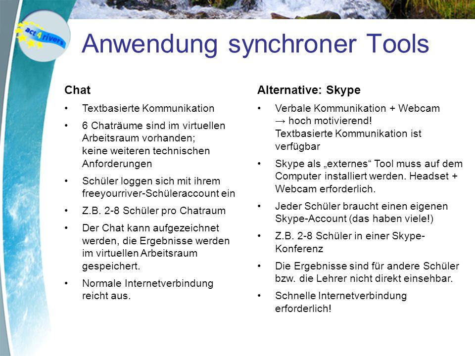 Anwendung synchroner Tools