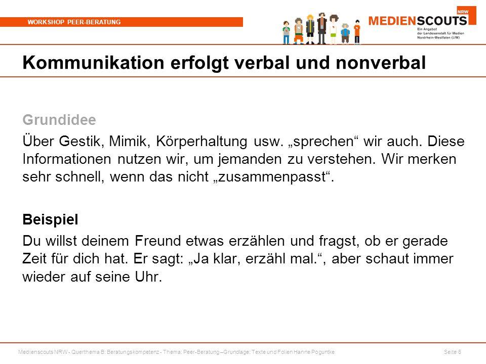 Kommunikation erfolgt verbal und nonverbal