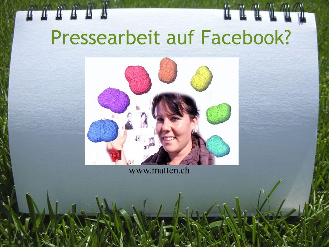 Pressearbeit auf Facebook