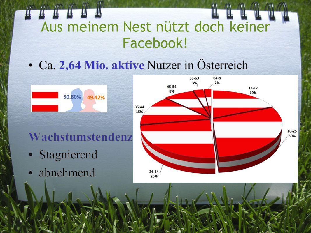 Aus meinem Nest nützt doch keiner Facebook!
