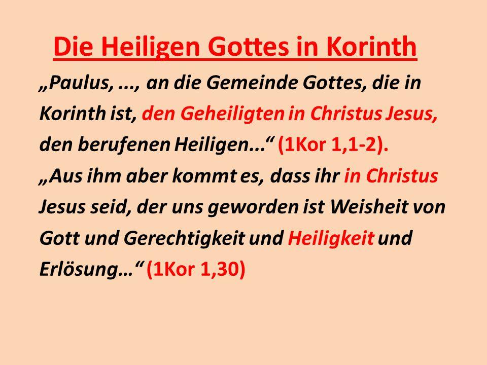 Die Heiligen Gottes in Korinth