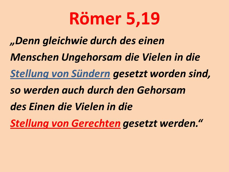Römer 5,19