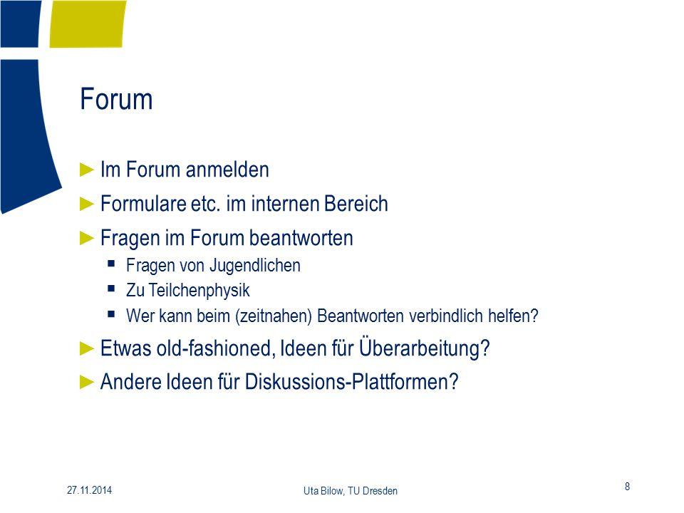 Forum Im Forum anmelden Formulare etc. im internen Bereich