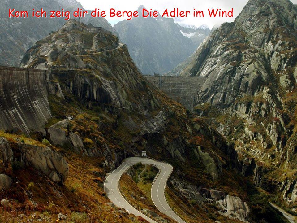 Kom ich zeig dir die Berge Die Adler im Wind