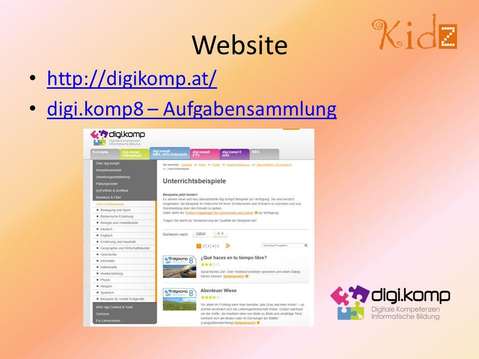 Website http://digikomp.at/ digi.komp8 – Aufgabensammlung