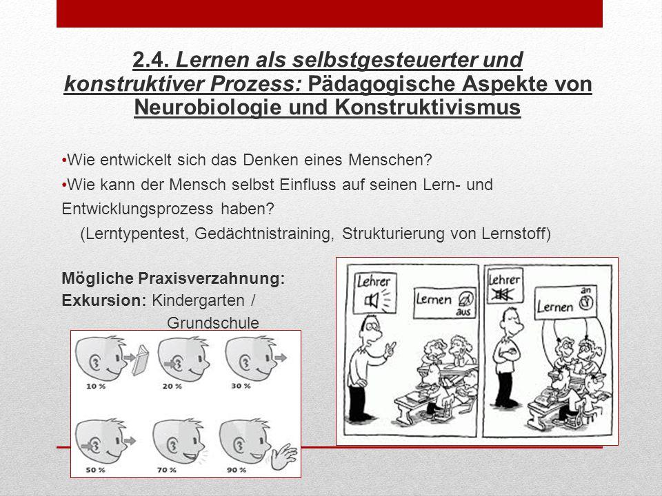 2.4. Lernen als selbstgesteuerter und konstruktiver Prozess: Pädagogische Aspekte von Neurobiologie und Konstruktivismus