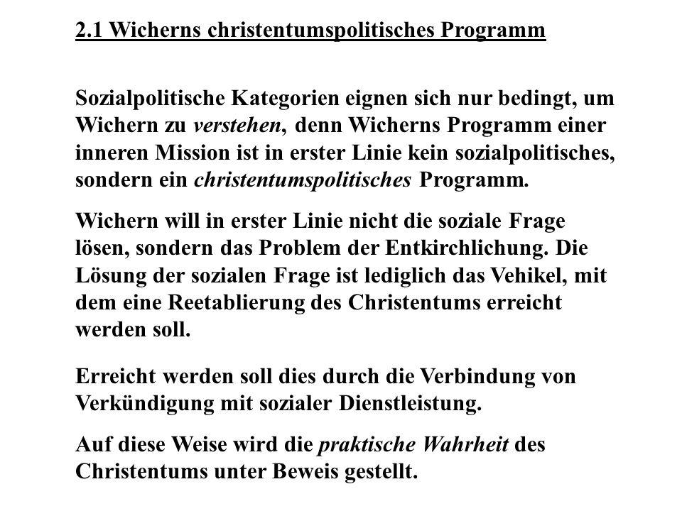 2.1 Wicherns christentumspolitisches Programm