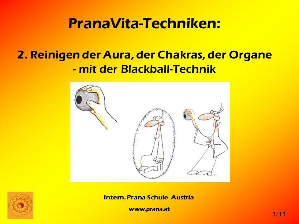 PranaVita-Techniken: 2. Reinigen der Aura, der Chakras, der Organe