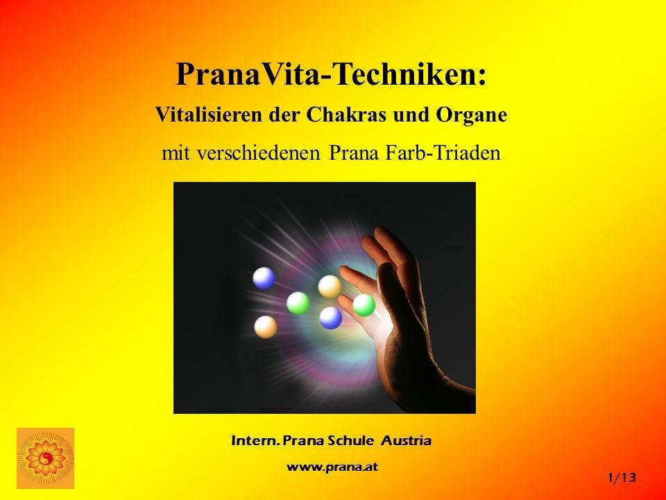 PranaVita-Techniken: Vitalisieren der Chakras und Organe