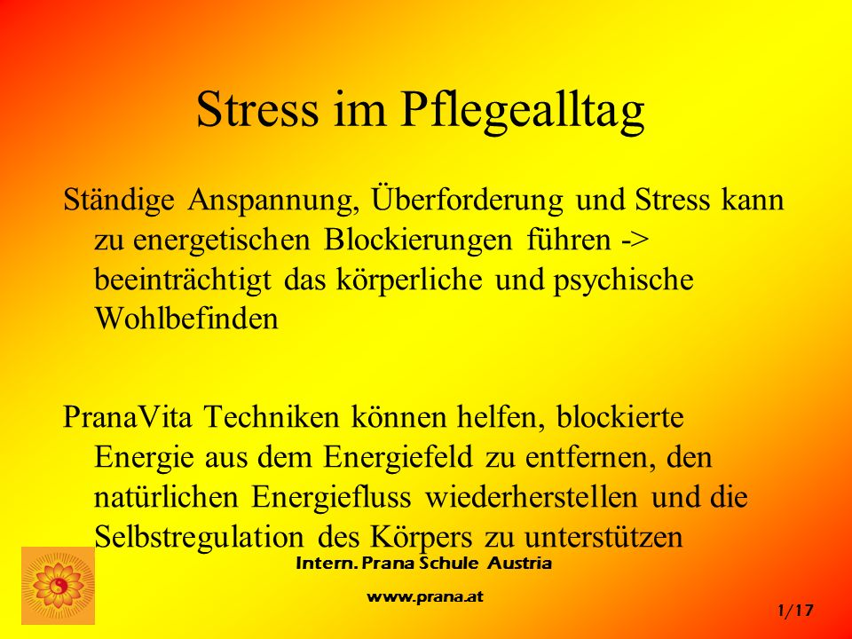 Stress im Pflegealltag