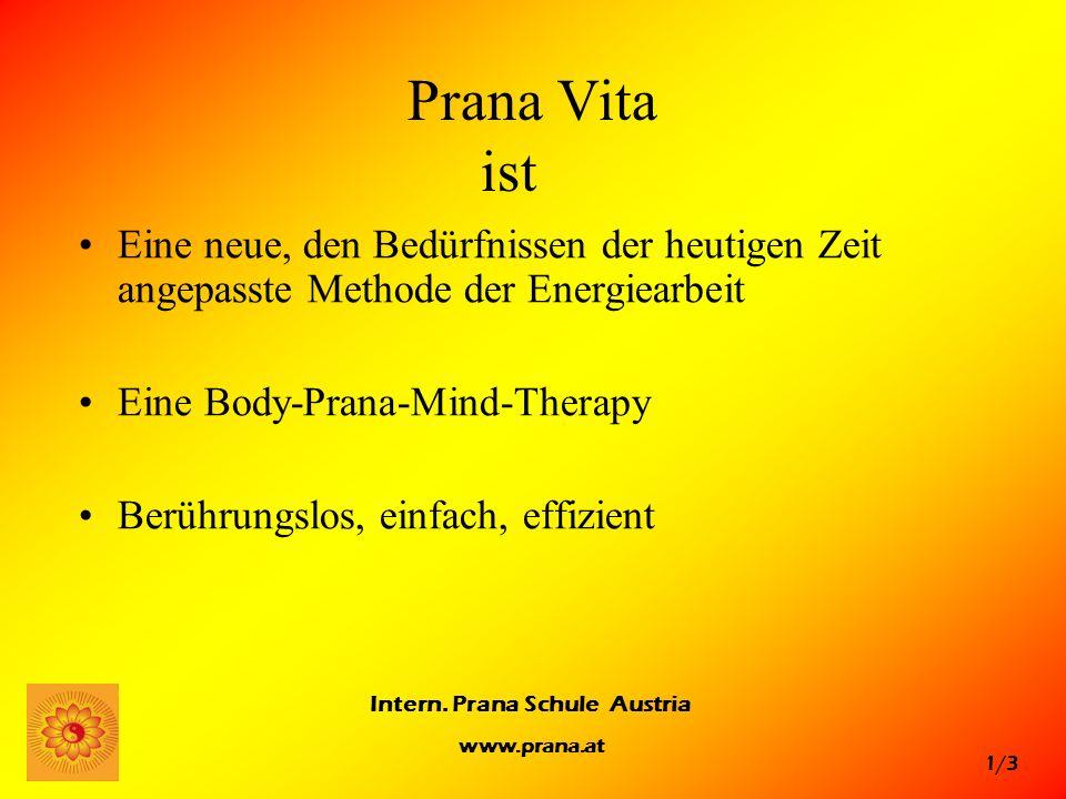 Prana Vita ist Eine neue, den Bedürfnissen der heutigen Zeit angepasste Methode der Energiearbeit.