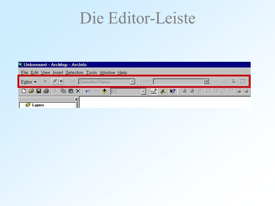 Die Editor-Leiste