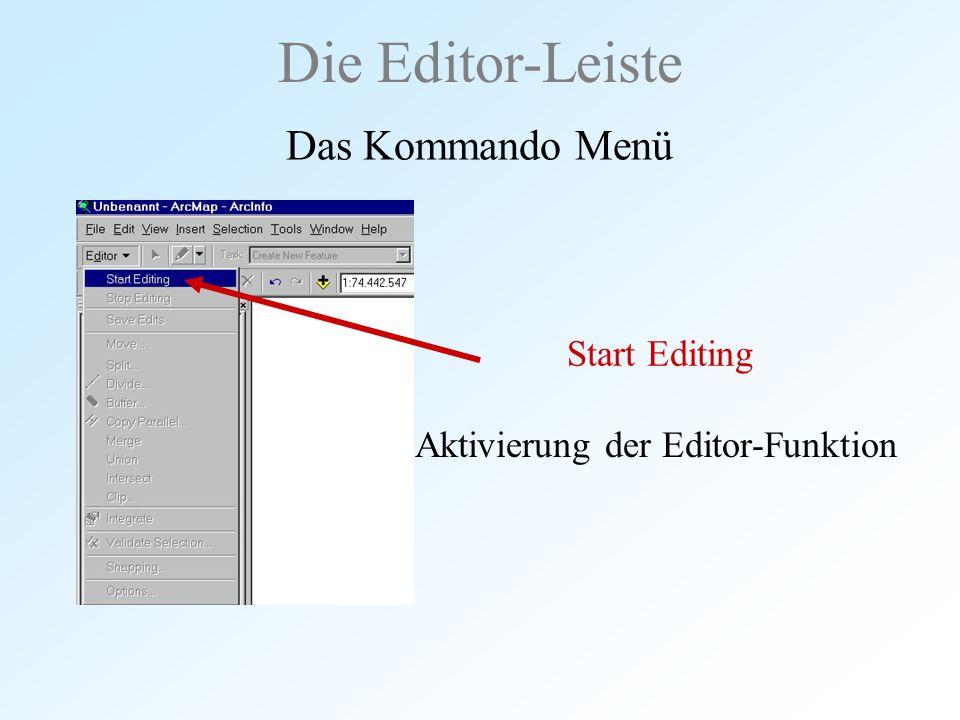 Aktivierung der Editor-Funktion