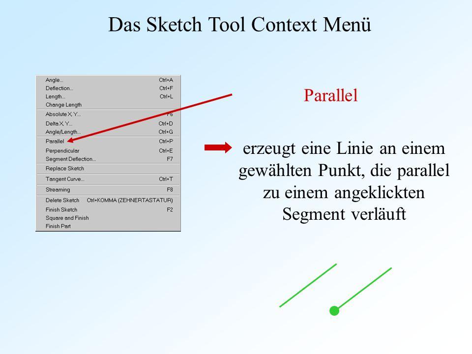 Das Sketch Tool Context Menü