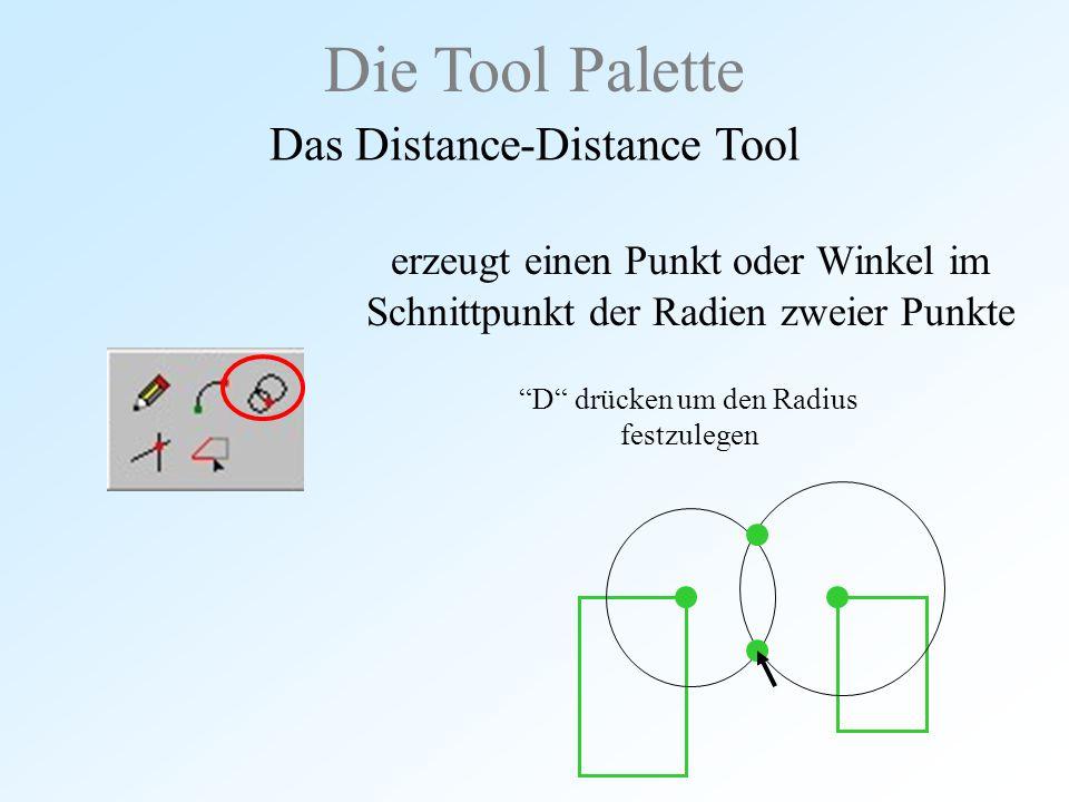 Die Tool Palette Das Distance-Distance Tool