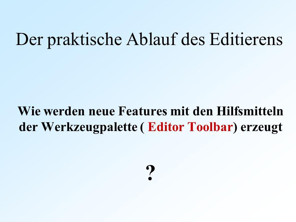 Der praktische Ablauf des Editierens