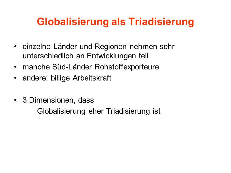 Globalisierung als Triadisierung