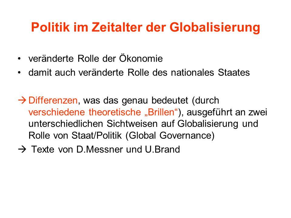 Politik im Zeitalter der Globalisierung