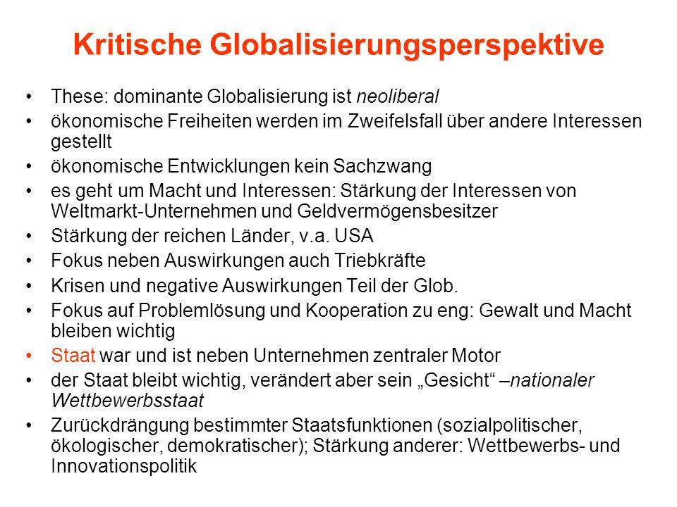Kritische Globalisierungsperspektive