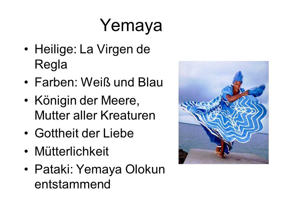 Yemaya Heilige: La Virgen de Regla Farben: Weiß und Blau