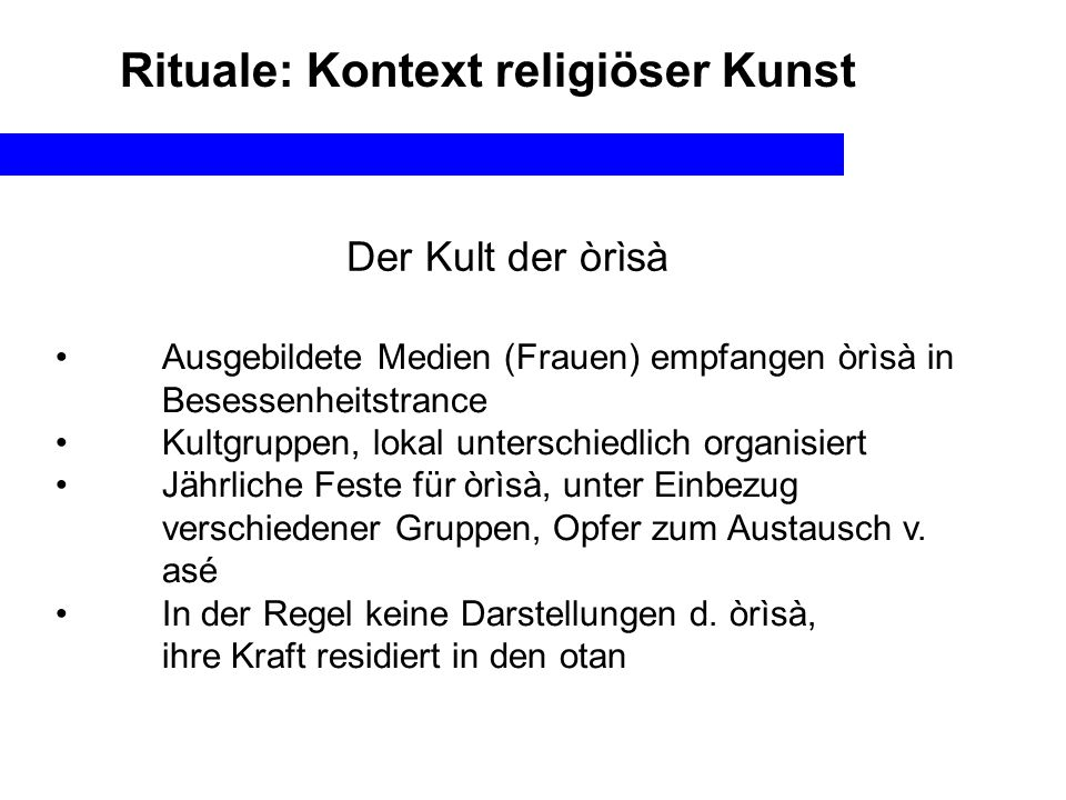 Rituale: Kontext religiöser Kunst