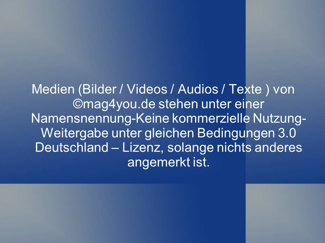 Medien (Bilder / Videos / Audios / Texte ) von ©mag4you