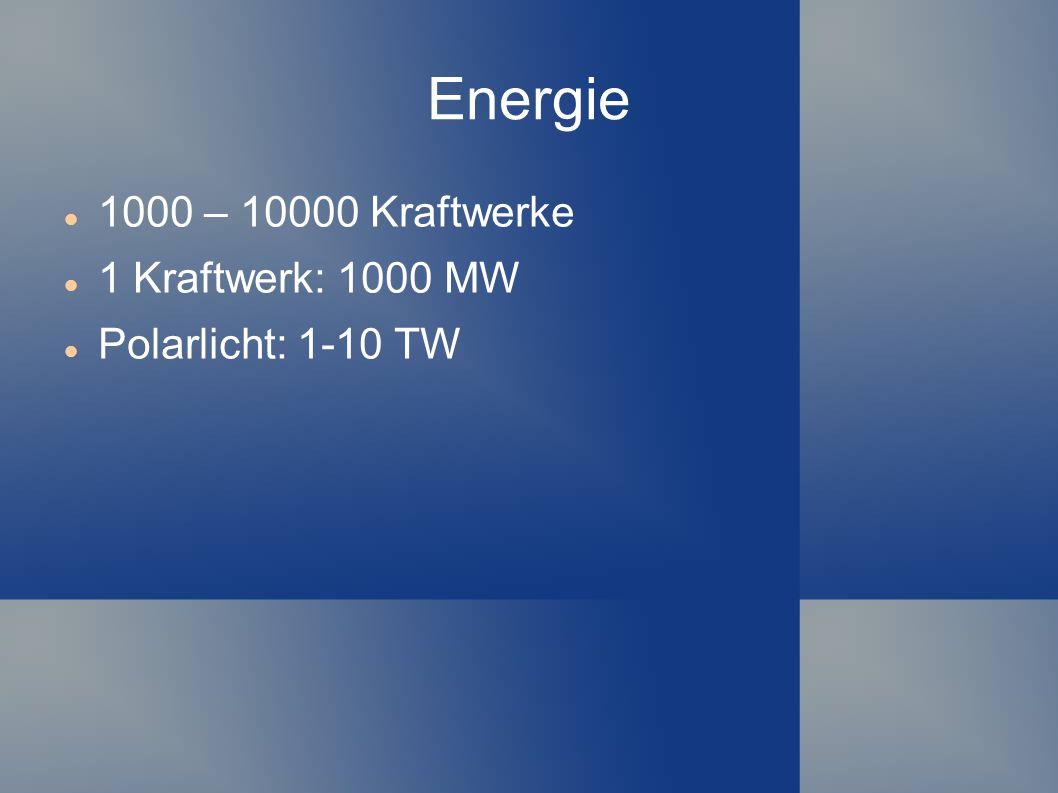 Energie 1000 – 10000 Kraftwerke 1 Kraftwerk: 1000 MW