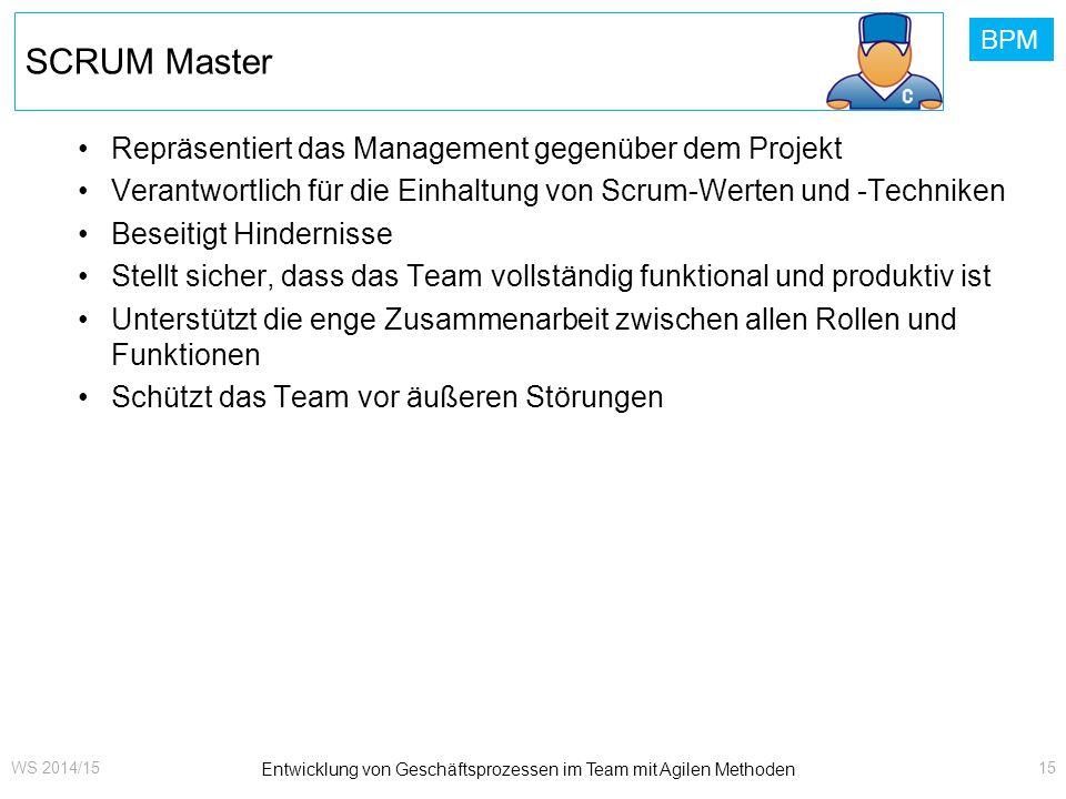Entwicklung von Geschäftsprozessen im Team mit Agilen Methoden
