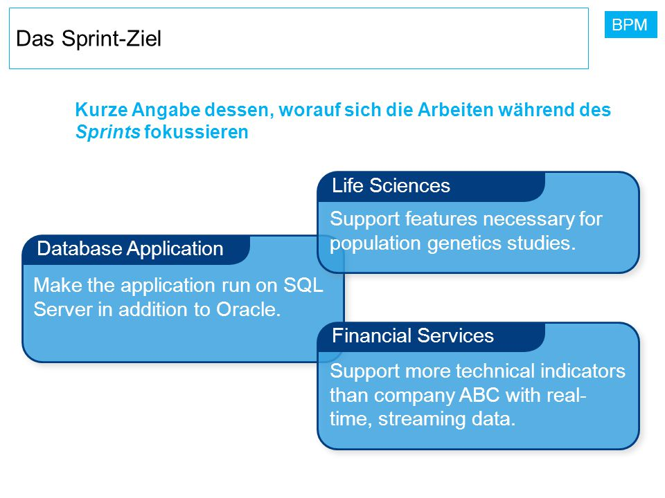 Das Sprint-Ziel Life Sciences