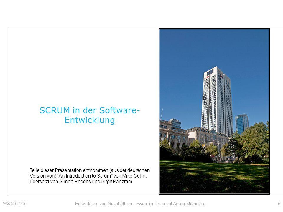 SCRUM in der Software-Entwicklung