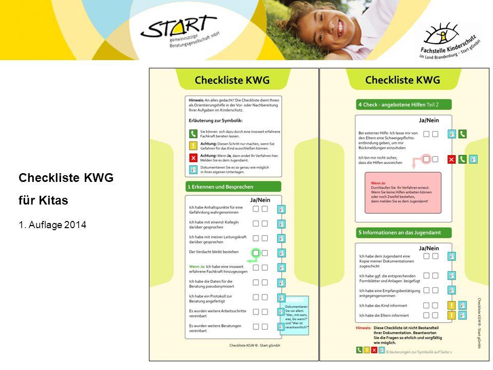 Checkliste KWG für Kitas 1. Auflage 2014 25