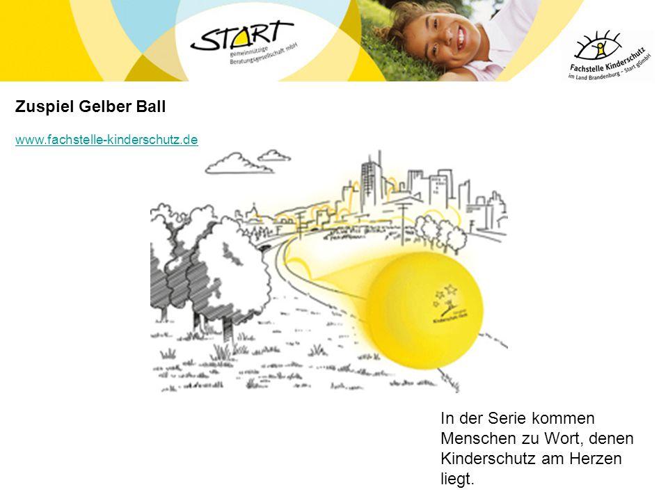 Zuspiel Gelber Ball www.fachstelle-kinderschutz.de. In der Serie kommen Menschen zu Wort, denen Kinderschutz am Herzen liegt.