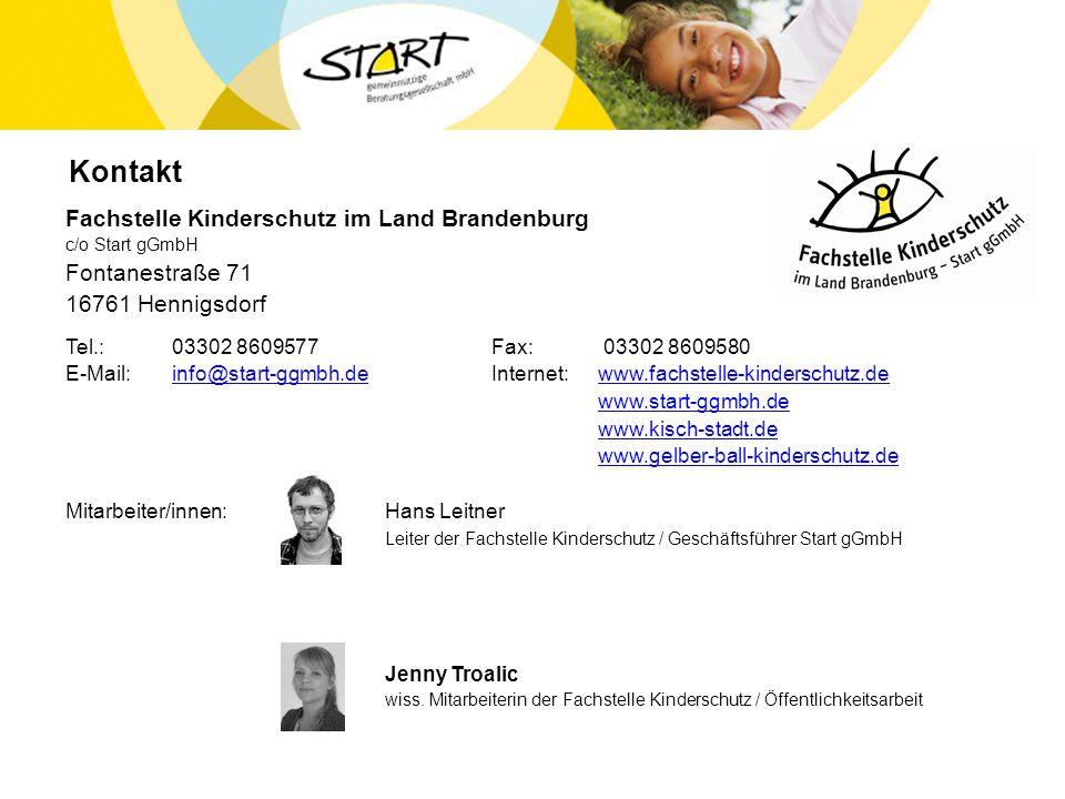 Kontakt Fachstelle Kinderschutz im Land Brandenburg Fontanestraße 71