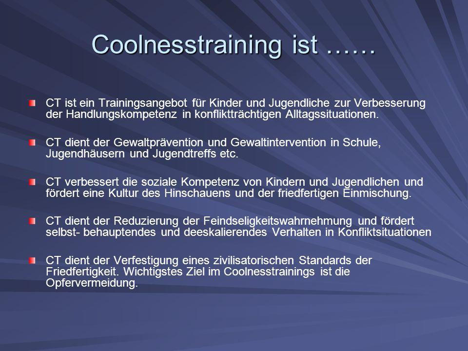Coolnesstraining ist ……