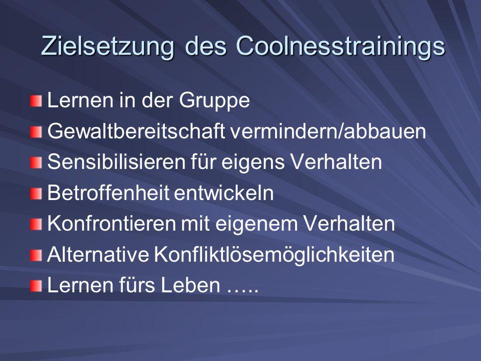 Zielsetzung des Coolnesstrainings