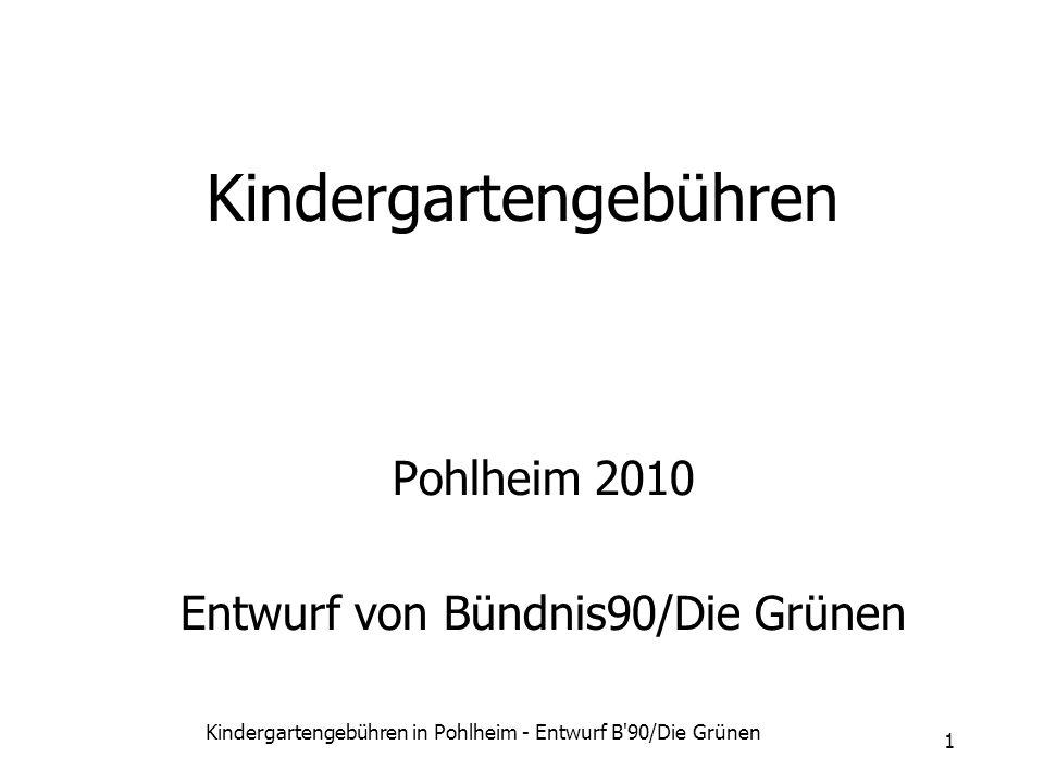 Kindergartengebühren