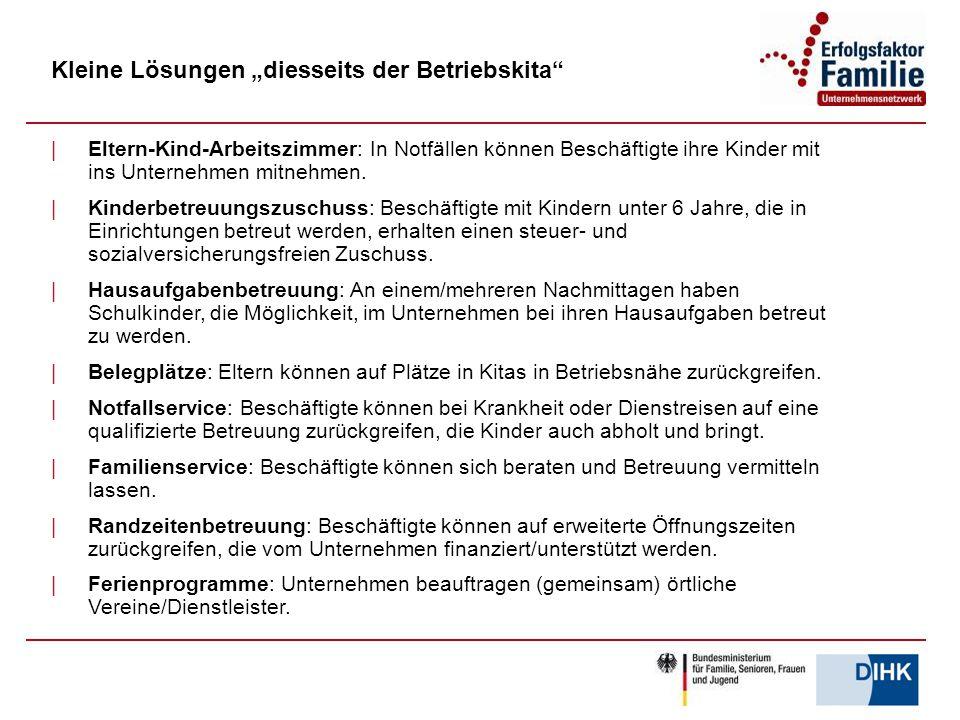 """Kleine Lösungen """"diesseits der Betriebskita"""