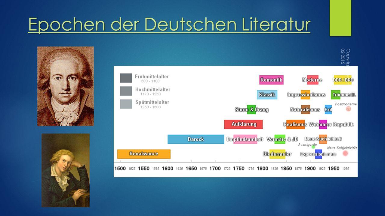 Epochen der Deutschen Literatur