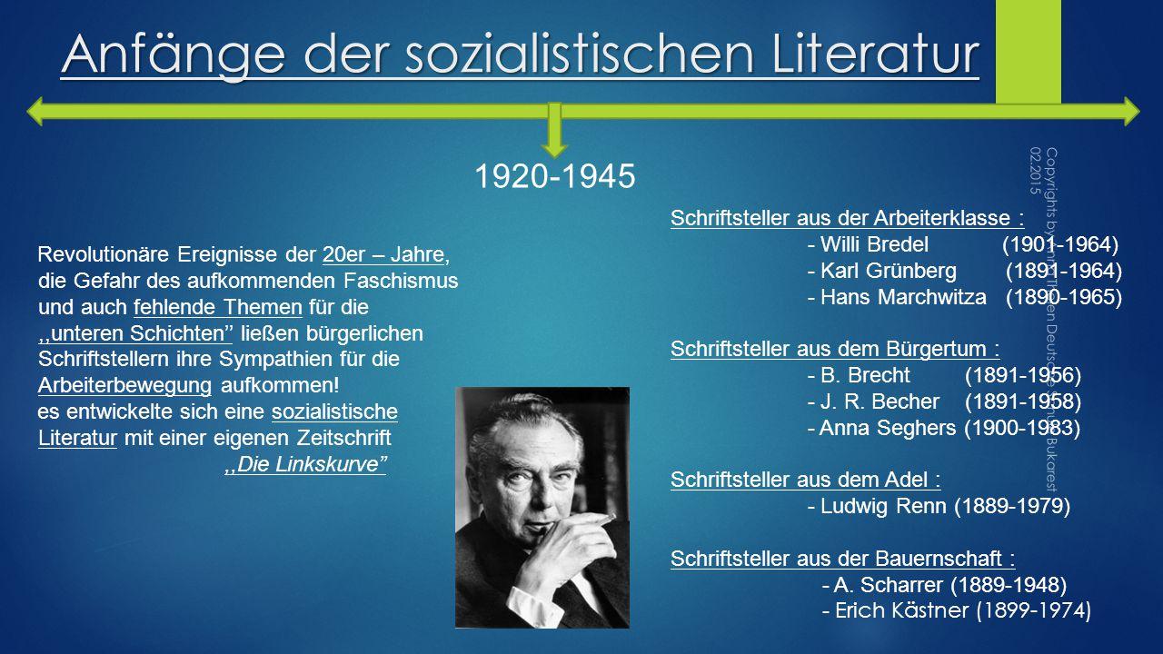 Anfänge der sozialistischen Literatur