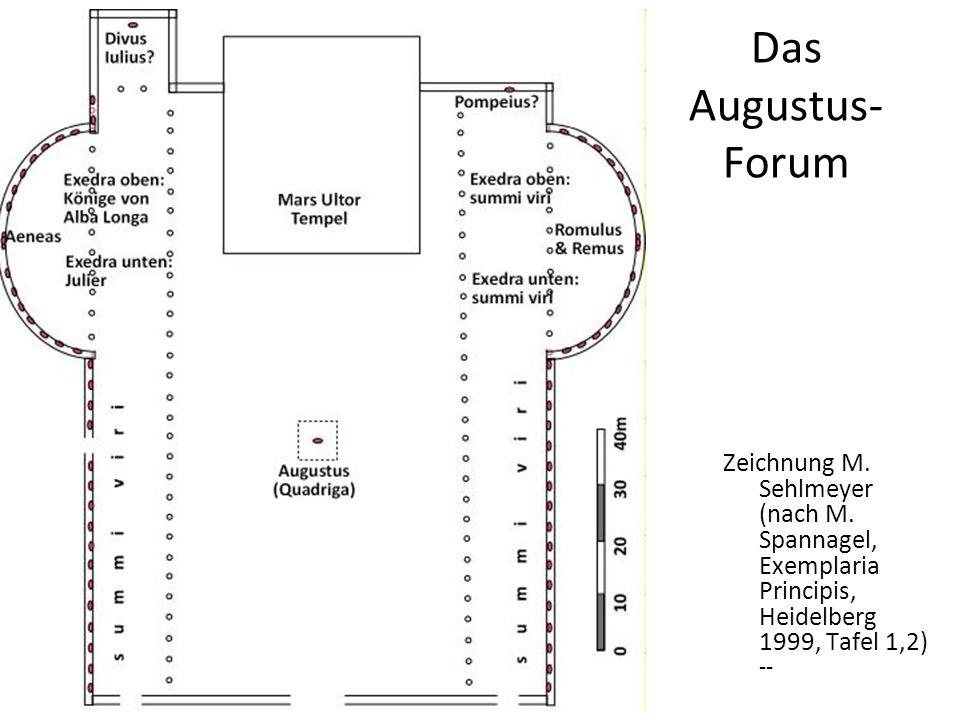 Das Augustus-Forum Zeichnung M. Sehlmeyer (nach M.