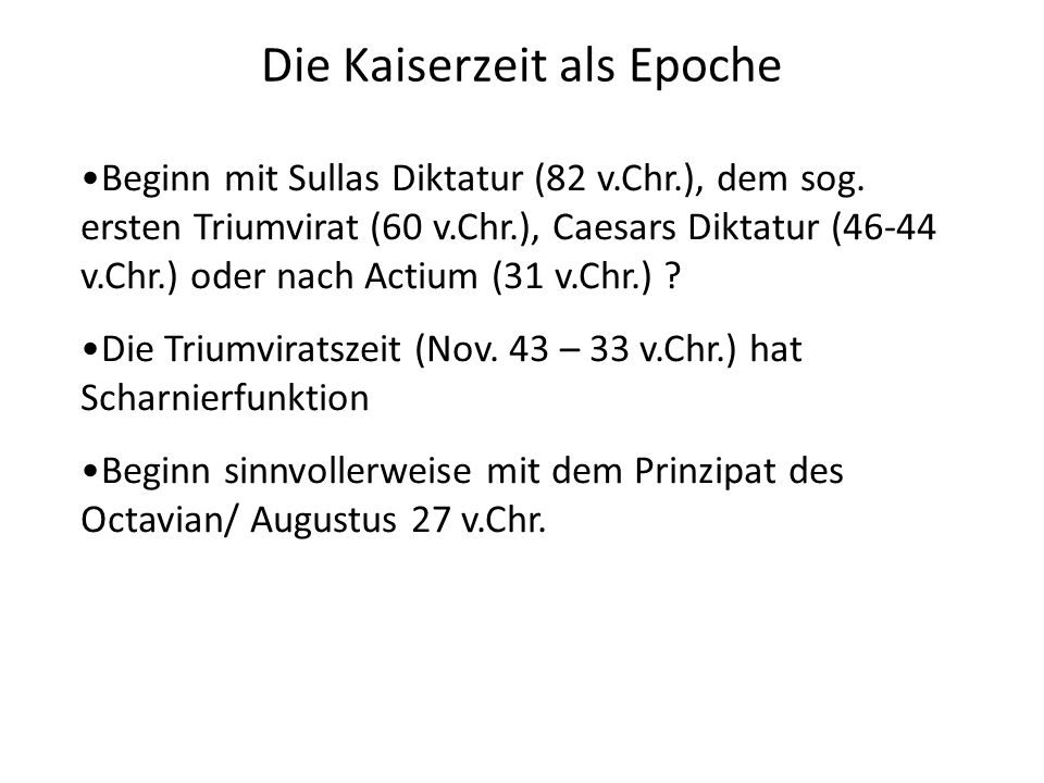 Die Kaiserzeit als Epoche