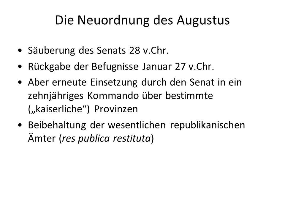 Die Neuordnung des Augustus