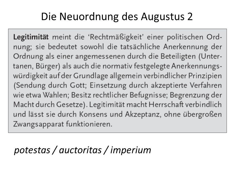 Die Neuordnung des Augustus 2