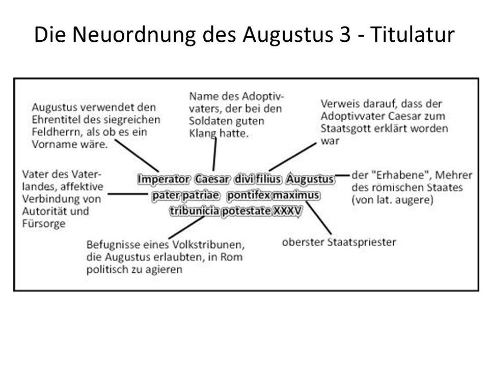 Die Neuordnung des Augustus 3 - Titulatur