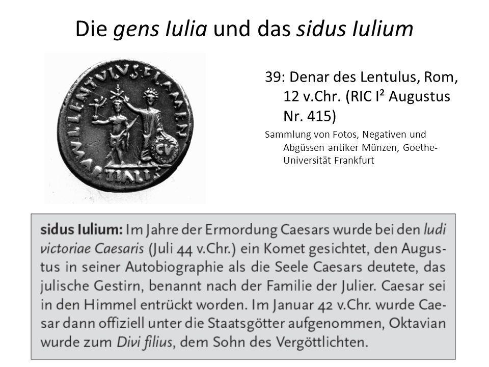 Die gens Iulia und das sidus Iulium