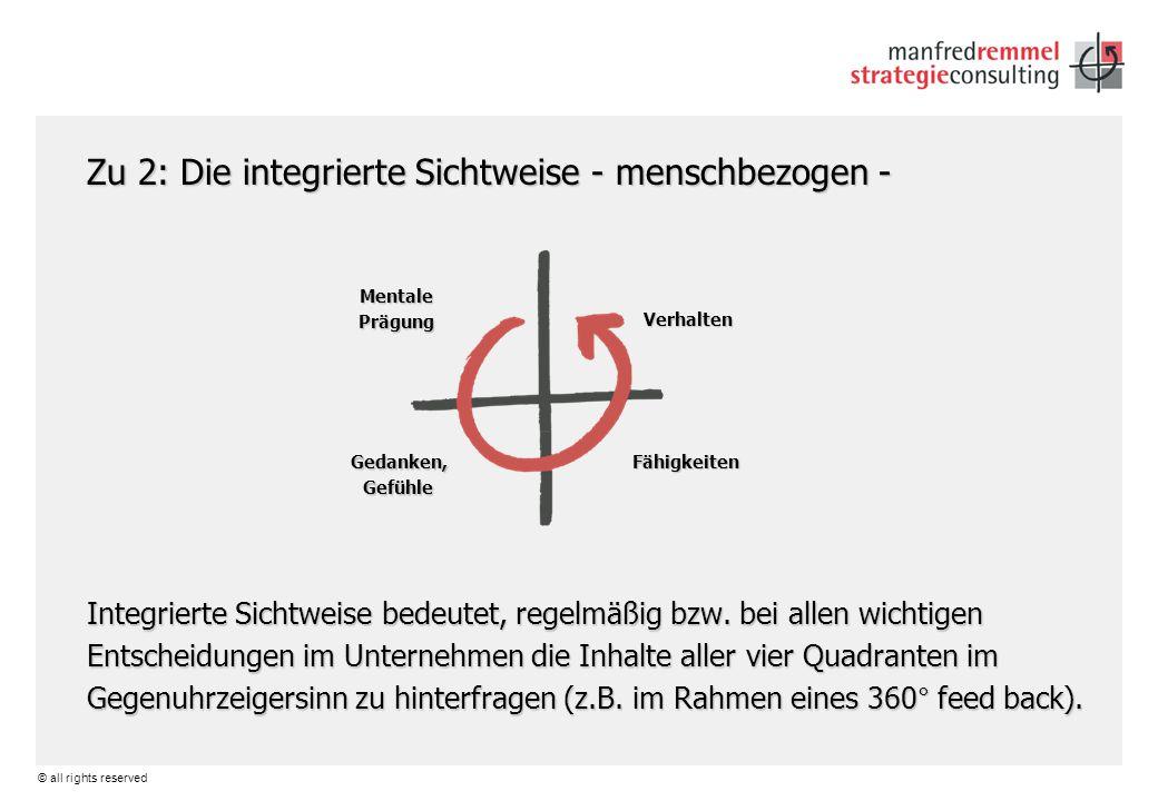 Zu 2: Die integrierte Sichtweise - menschbezogen -