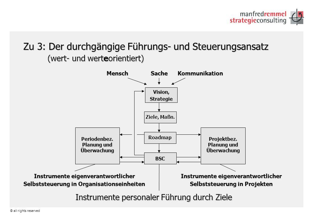 Zu 3: Der durchgängige Führungs- und Steuerungsansatz (wert- und werteorientiert)