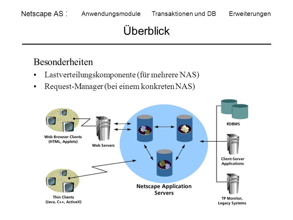 Überblick Besonderheiten Lastverteilungskomponente (für mehrere NAS)